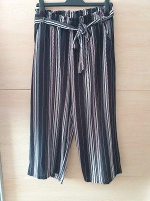 Gina Pantalone a 7/8 nero-rosa pallido
