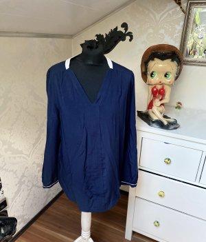 Tolle lockere Tommy Hilfiger Langarm Bluse blau Gr M/L/Xl