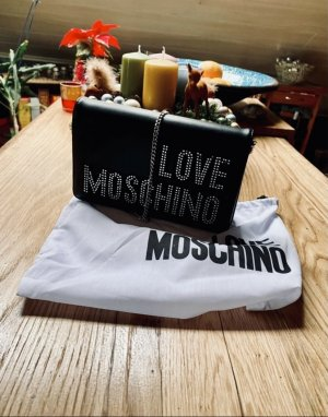 Love Moschino Crossbody bag black-silver-colored
