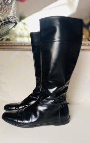 Tolle Luxus Gucci Stiefel Schuhe Schwarz Gr 39 in neuwertigem Zustand