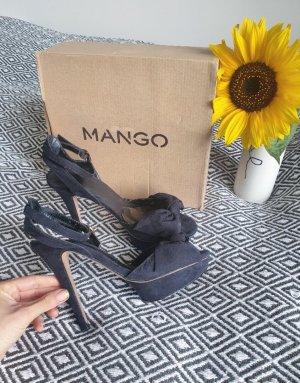 Mango Escarpins à bout ouvert noir