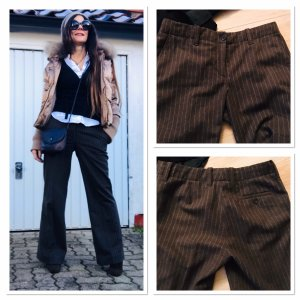 H&M Marlene Trousers taupe-grey brown wool