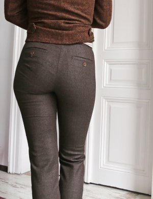 Max Mara Woolen Trousers multicolored