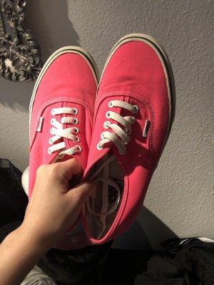 Tolle Neonpinke Vans Authentic Schuhe Marke Pink Weiß