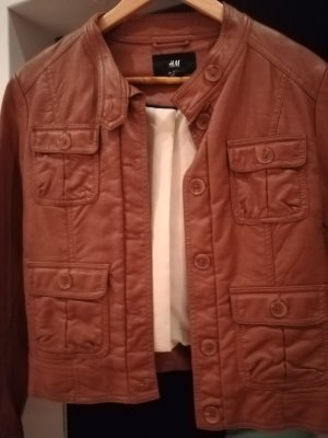 H&M Leather Jacket brown imitation leather