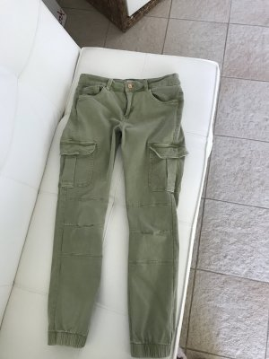 Be only Cargo Pants green grey-sage green cotton