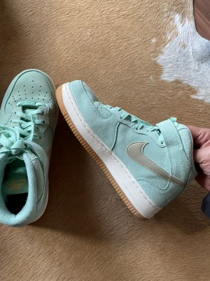 Tolle Neue Nike Air Force 1 High Top Sneaker Mint grün Gr 37,5