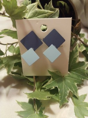 Clip d'oreille bleu azur-bleu acier