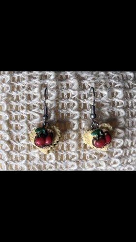 Tolle Ohrringe Kekse Herz Kirschen