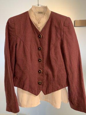 Grätz Tradycyjna bluzka czerwona jeżyna-biały