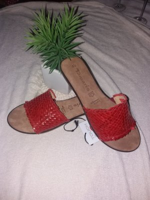 Tamaris Sandalias para uso en exteriores rojo ladrillo