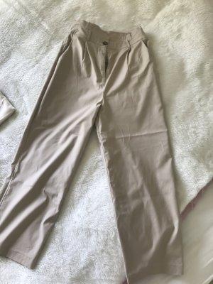 Vila Paperbag Trousers beige-oatmeal cotton