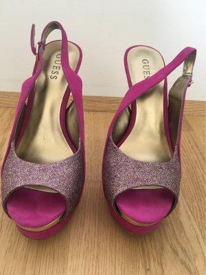 Guess Peep Toe Pumps violet