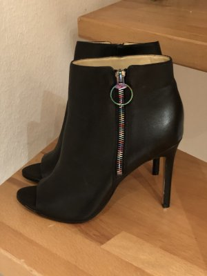 Katy Perry Peep Toe Booties black leather