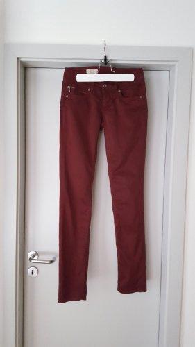 Pepe Jeans Jeans a sigaretta bordeaux Cotone