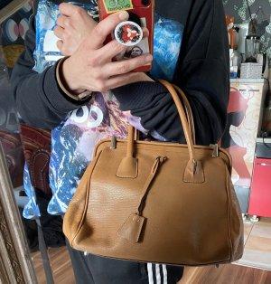 Tolle Prada Milano Vintage Handtasche Leder braun