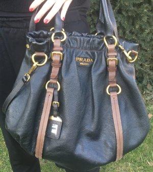 Tolle Prada Tasche Shopper Ledertasche braun