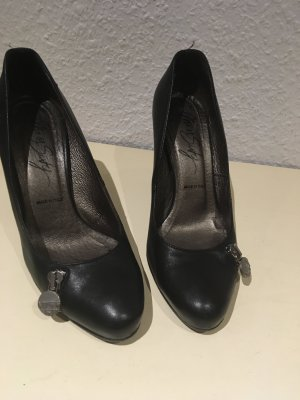 Tolle Pumps/High Heels/schwarz/echt Leder
