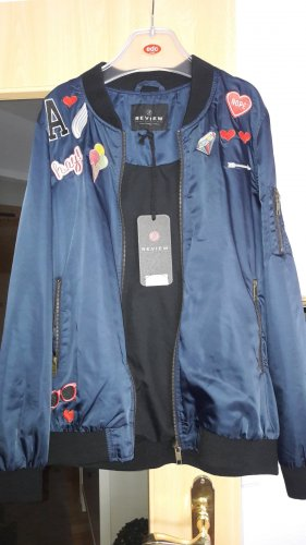 Review Flight Jacket dark blue-black polyester