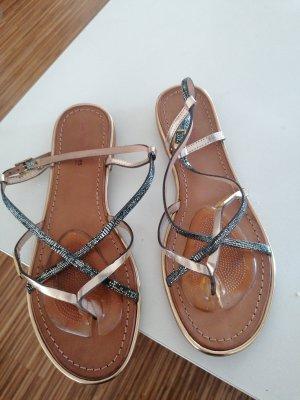 Les Tropéziennes High-Heeled Toe-Post Sandals multicolored