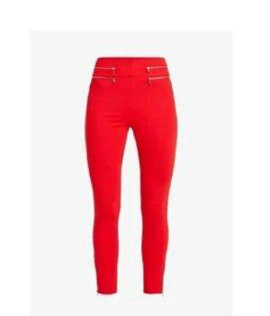 Guess Spodnie z wysokim stanem czerwony Wiskoza