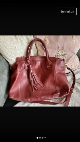 Tolle rote Ledertasche