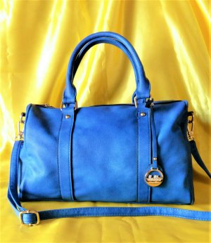 Tolle royalblaue Tasche von Dudlin - 1x ausgeführt, super Zustand