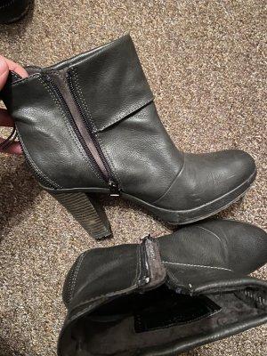 s. Oliver (QS designed) Buty na obcasie czarny-czarno-brązowy
