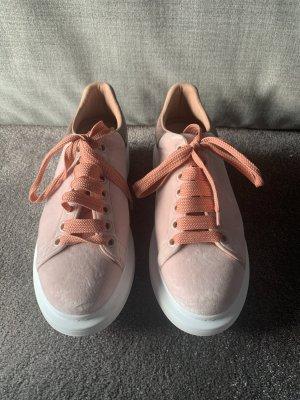 Alexander McQueen Sneakers met veters roségoud