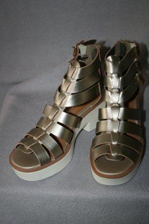 tolle Sandale gold Gr. 37 von FOLLOW ME - NEU