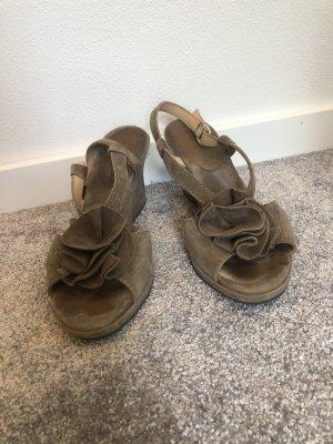 Sandalias con plataforma marrón grisáceo-taupe