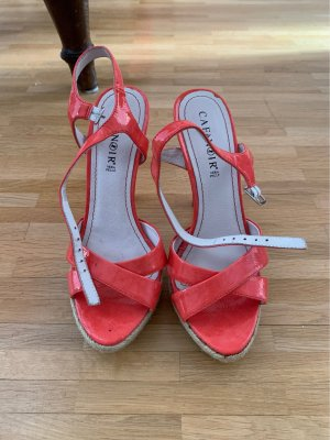 Cafènoir Strapped High-Heeled Sandals salmon