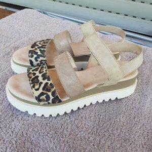 Gabor Wedge Sandals bronze-colored-grey