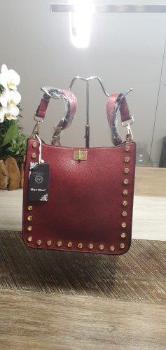 Shoulder Bag brown red imitation leather