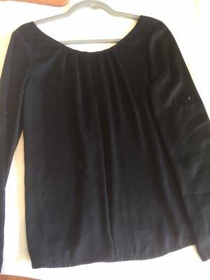 Suiteblanco Glanzende blouse zwart