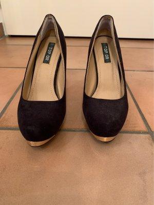 Tolle schwarze High Heels mit Verzierung