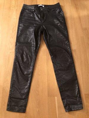 Monday Premium Pantalon en cuir noir