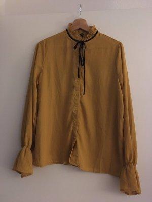 Amisu Blusa de manga larga marrón arena