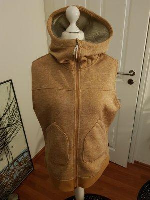 Burton Chaleco con capucha marrón arena