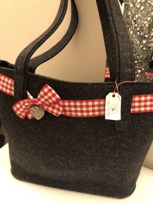 Tolle Shopper Tasche v. Filzicus Trachten Tasche dunkelgrau
