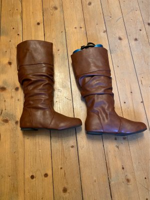 Slouch Boots cognac-coloured