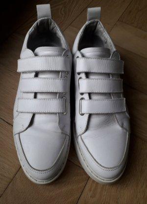 Hook-and-loop fastener Sneakers white leather