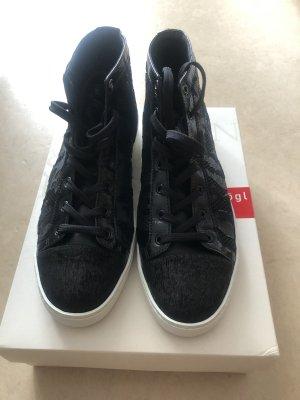 Tolle Sneaker, Högl, 6,5 (40) NP 174,90€ schwarz Camouflage  mit weißer Sohle