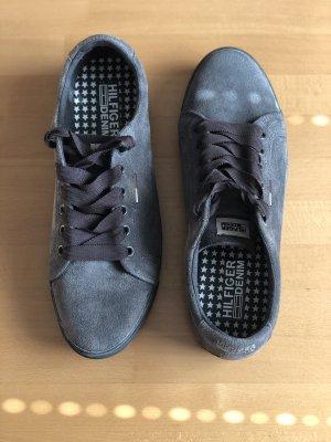 Tommy Hilfiger Denim Basket à lacet gris foncé-gris