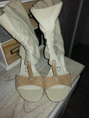 MARC Shoes Bottes à bout ouvert crème