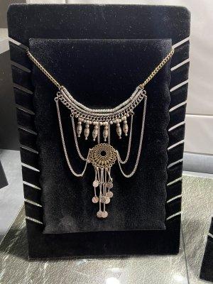 Statement Necklace silver-colored-bronze-colored