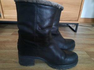Panama jack Fur Boots black leather