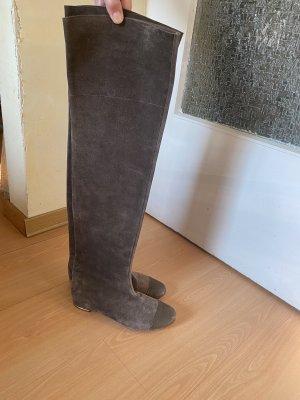 Chloé Buty nad kolano szaro-brązowy