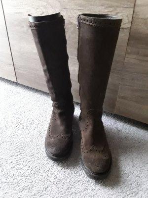 Liebeskind Stivale militare marrone Scamosciato