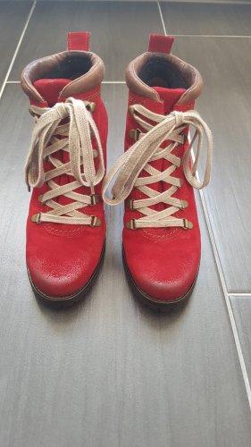 Tolle Stiefelette von Paul Green rot Gr.3,5 neuwertig